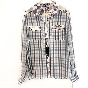 Paige Audrey plaid long sleeve blouse